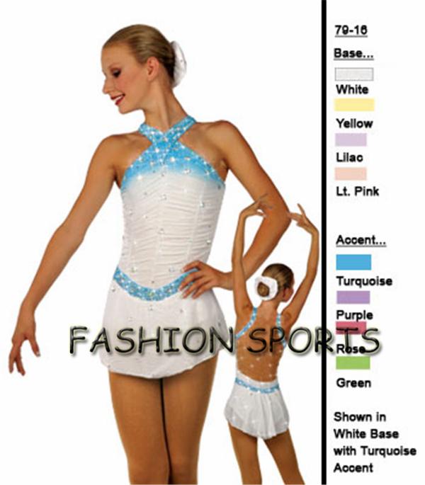 2015 Custom Ice Skating Dress For Girls Fashion New Brand Figure Skating Competition Dress HB1224(China (Mainland))