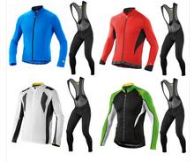 Cycling Jersey long Sleeve bib Shorts/Kit clothing bicycle bike sports fashion clothing ropa ciclismo bicicletas maillot(China (Mainland))