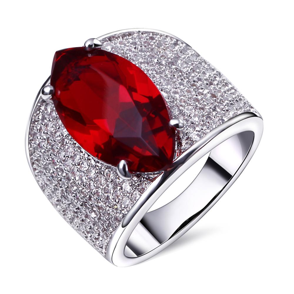 2015 dernières tendances de la mode rouge Big Stone anneau de mariage ...