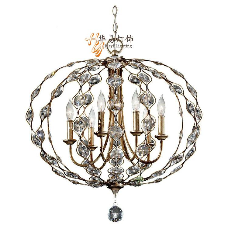 País da américa lustre retro francês mediterrâneo villa jardim sala de estar jantar ferro a criatividade artística cristal chandeli(China (Mainland))