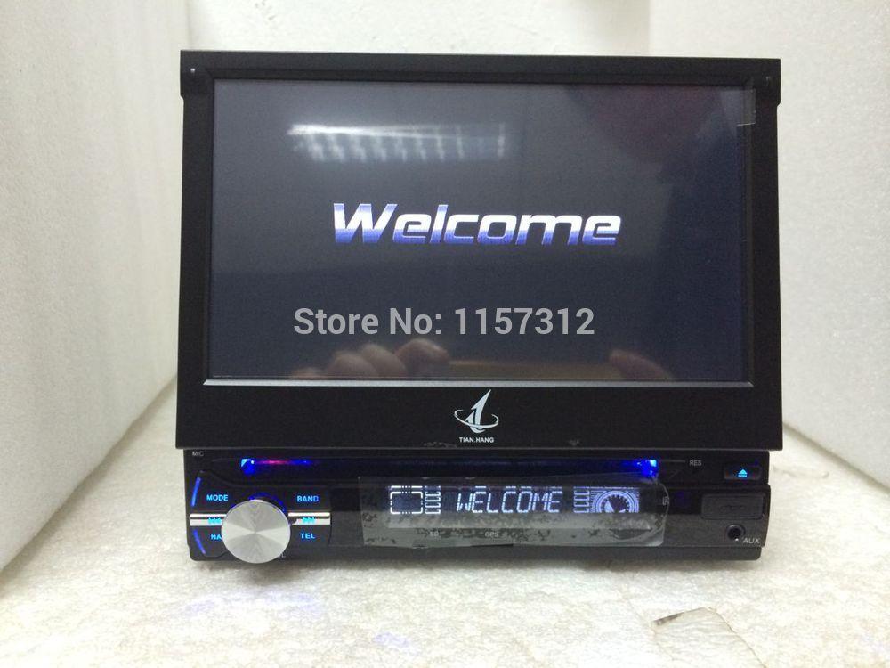 "Universal 7"" HD Touch Screen Car DVD Player Radio GPS Navigator USB SD TF FM CD BT 1din Audio Car Stereo DVD automotivo 1 Din(China (Mainland))"