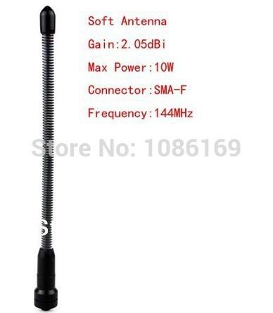 Black Soft Flexible Single Band VHF 144MHz High Gain SMA-F Antenna for Walkie Talkie WOXUN BAOFENG UV-5R(China (Mainland))