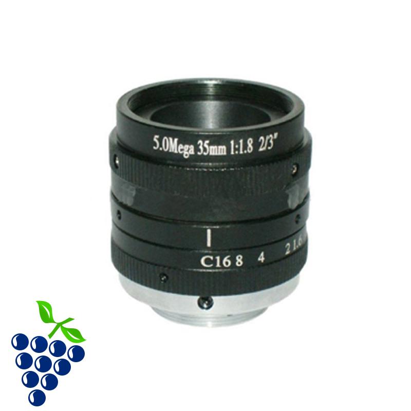 2/3 inch C interface HD 5MP pixel 35MM industrial camera lens manual iris lens lens(China (Mainland))