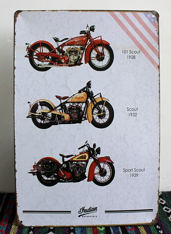 2015 New Hot The Indian Motorcycle Painting Tin Sign Bar PUB House Vintage Metal Poster Iron Wall Sticker Decoration Retro Board(China (Mainland))