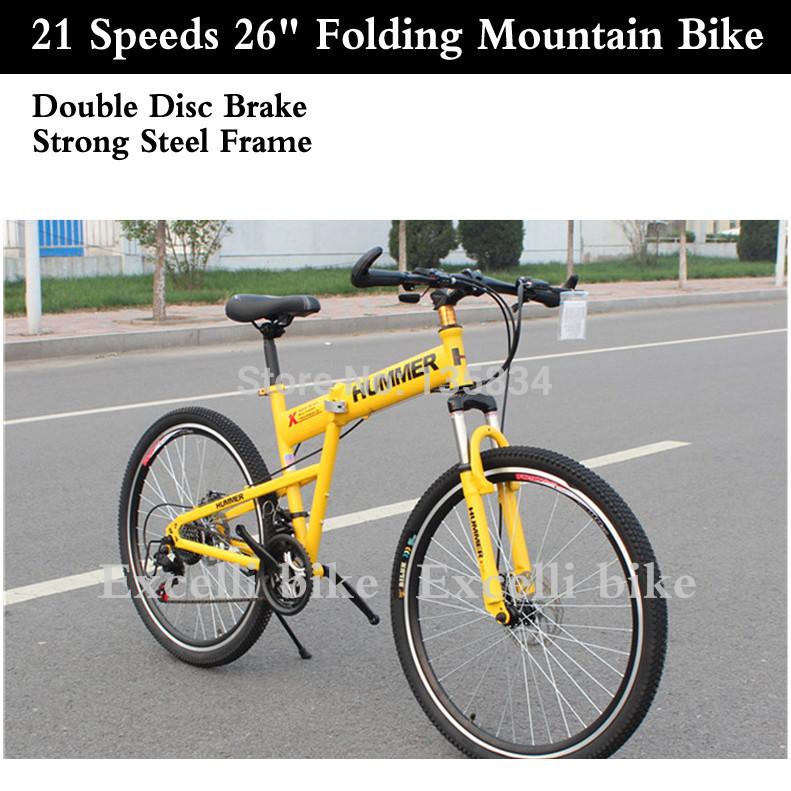 "21 Speeds 26"" Folding Bike Speed Aluminium Alloy Brand Bicicleta Plegable Off Road Folding Bicycle Bicicleta Mountain Bike 26(China (Mainland))"