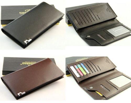 Men's Leather Long Wallet Bifold Holder Clutch Handbag Purse Cards Notecase(China (Mainland))