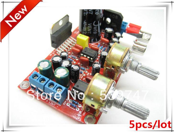 2.1 hi fi TDA7377 + NE5532 pré amplificador três canais placa amplificador subwoofer kit 5 pçs/lote(China (Mainland))