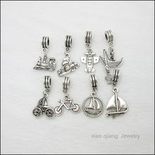 Free shipping!  18pcs  Mix  Tibetan silver Bead Charm big hole pendant fit Pandora charm bracelet DIY pendant. X052