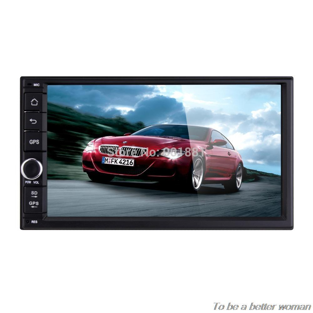 NEW 7 inch 1024*600 touchscreen 2 din universal car computer car pc Android 4.4 GPS MAP Radio BT WIFI 3G OBD DVR AUX USB SD(China (Mainland))