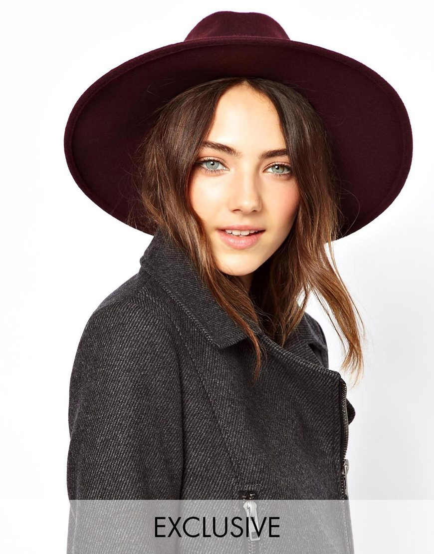 2015 Fedora Hat with Pearl chain Spring Winter Fashion 8 Colors Vintage Women Ladies Floppy Wide Brim Flannel Felt Cap(China (Mainland))