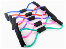 5PCS Resistance Training Bands Tube Workout Exercise for Yoga 8 Type Fashion Body Building Fitness Equipment Too