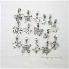 Free shipping!  15pcs  Butterfly  Tibetan silver Bead Charm big hole pendant fit Pandora charm bracelet DIY pendant. X088