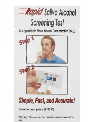 Free Shipping by DHL 500 Pcs Mini Rapid Alcohol Testing Strip Disposable Alcohol Tester Saliva Alcohol Tester(China (Mainland))