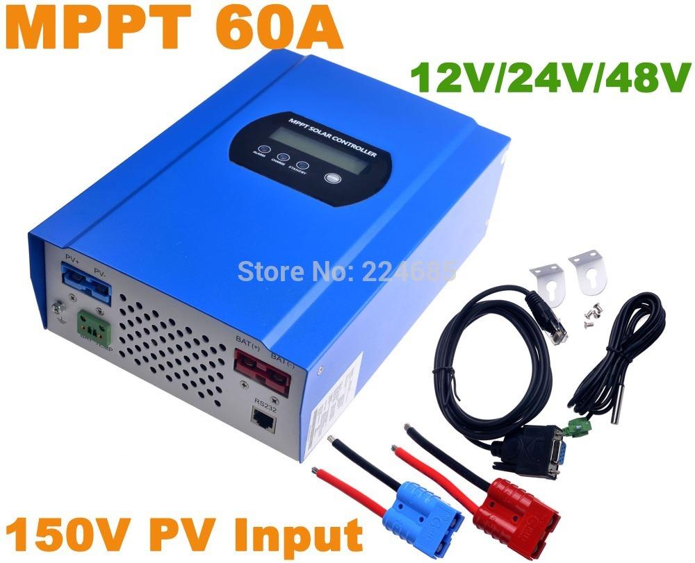 60A MPPT Solar Controller,12V/24V/48VDC AUTO,Battery Regulator Charger 150V PV Input,RS232(China (Mainland))