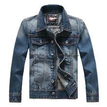 Slim denim outerwear male men's clothing denim casual male fashion  jacket shirt coat top M-5XL(China (Mainland))