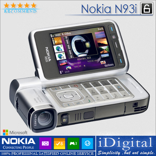 Мобильный телефон N93i Bluetooth WIFI 3G Nokia мобильный телефон blackberry 9650 3g wifi