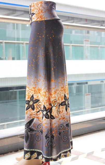 floor sweeping skirt maxi long ombre skirt shape A large hem soft material 2015 fashion free ship(Hong Kong)