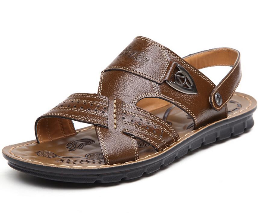 Гаджет  Hot Sale Free Shipping Men Sandals Slippers Sandals Outdoor Casual Men Summer Sandals Soft Bottom Leather Sandals Free Shipping None Обувь