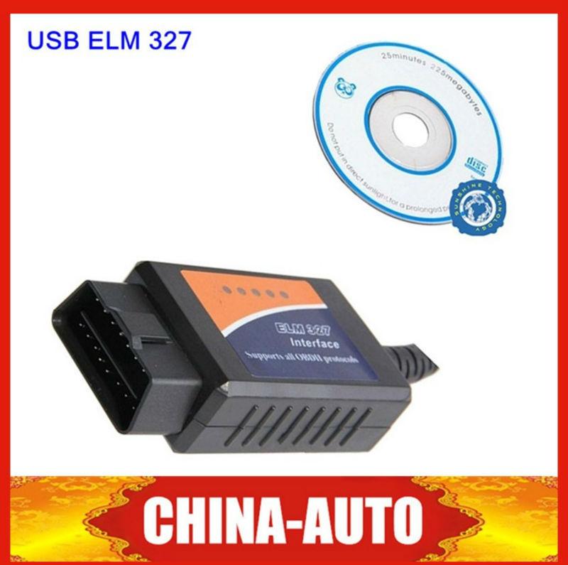 Оборудование для диагностики авто и мото OBD2 ELM327 USB v1.5 OBD2 & 327 USB оборудование для диагностики авто и мото none 5pcs bmw usb obd 2 ii inpa k k dcan usb 20 obdii
