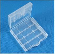 1Pcs Clear White Hard Plastic Case Battery Holder Storage Box AA AAA New