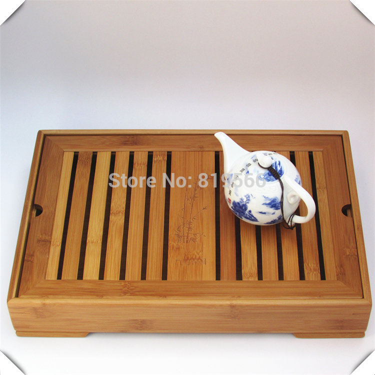 New Chinese Bamboo Kung Fu Tea Set Tray Cup drawer Pot Board Tools Service Table