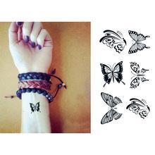À prova d ' água tatuagem temporária adesivos preto bonito Fly borboleta animais Designs Body Art produtos do sexo ferramentas estilo Make Up(China (Mainland))