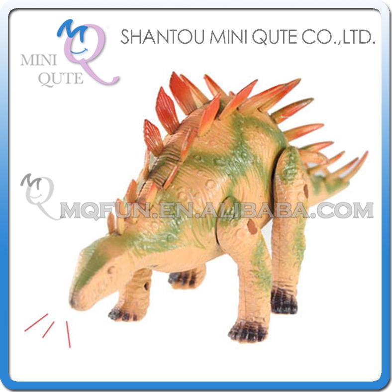 48pcs/lot Mini Qute 26 cm plastic Godzilla Jurassic Park sound flash walk electronic Dinosaur Stegosaurus model toy NO.1020(China (Mainland))