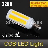 Protect Eyesight COB LED lamps E14 7W Ultra bright Corn bulb light COBSMD AC 220V Super Energy Saving Pendant lights 1pcs/lot