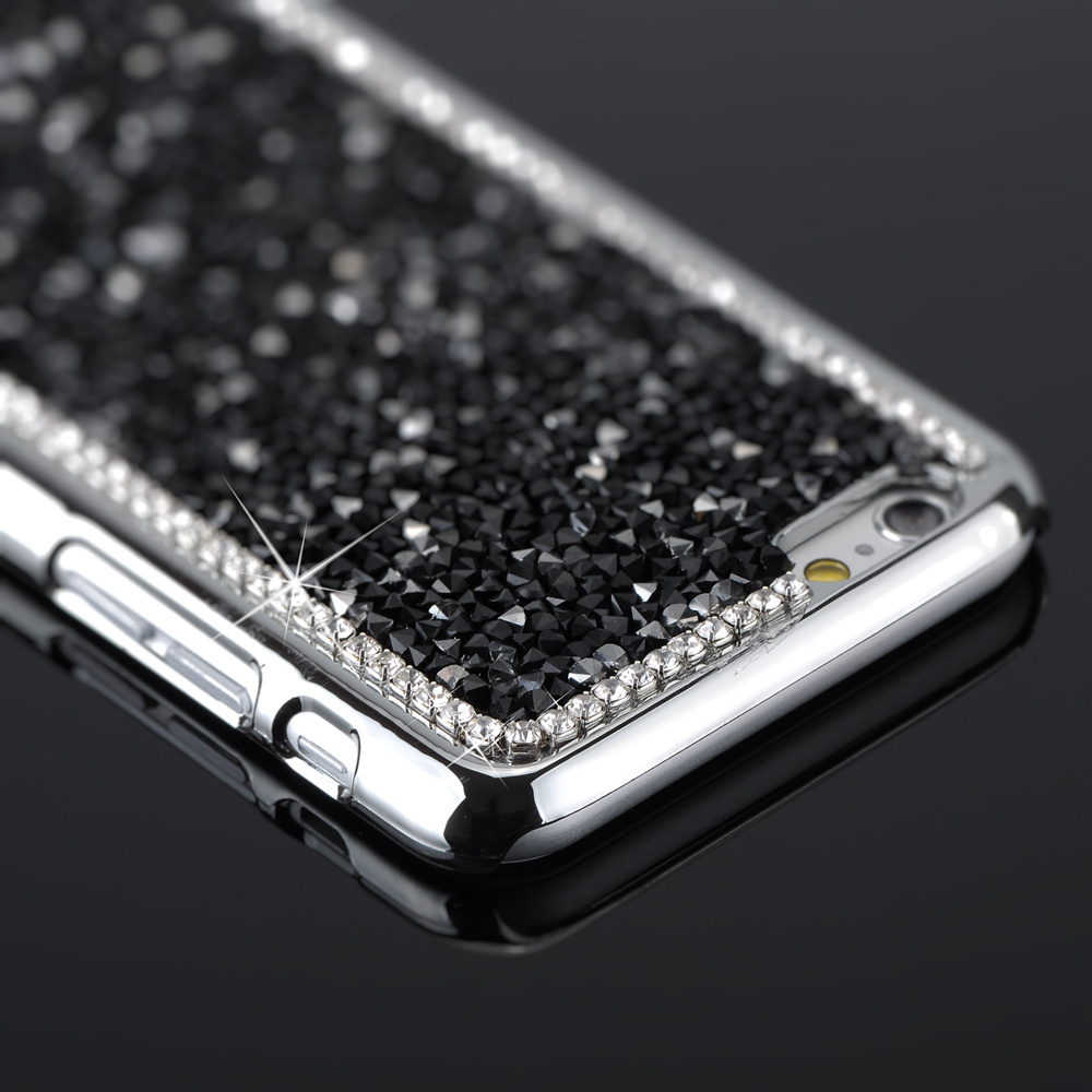 Luxury Bling Diamond Case For iPhone 6 Case 4.7'' For iPhone 6 Plus iPhone Case 5.5'' Crystal Metal Electroplate Back Cover(China (Mainland))