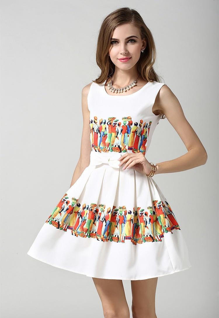 env o libre 2015 de moda de verano vestido partido de las muchachas