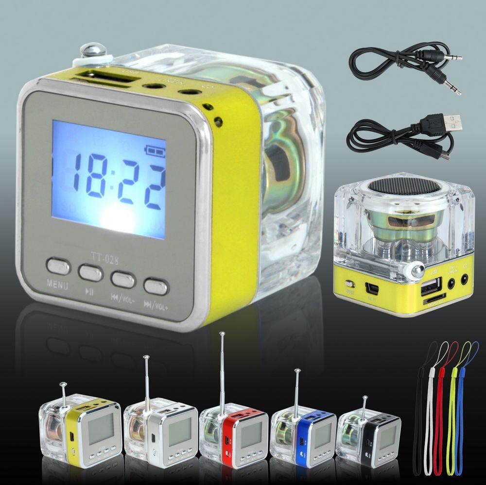 NIZHI TT-028 LED Display Mini Speaker USB FM SD For IPHONE IPAD IPOD MP3 PC(China (Mainland))