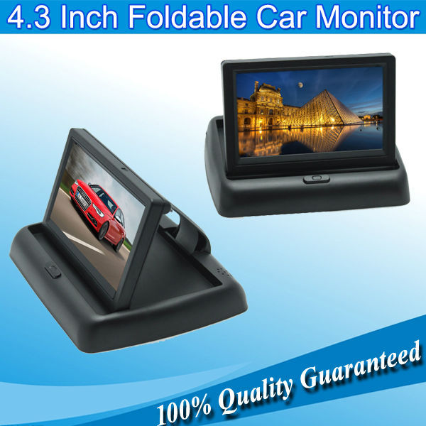"Unique Car 4.3"" TFT LCD Color Rearview Monitor for DVD GPS Reverse Backup Camera Display(China (Mainland))"