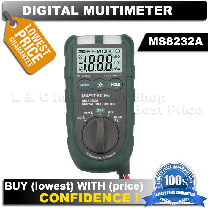 Мультиметр MASTECH MS8232A 4 DMM NCV Multimetro  мультиметр sinometer nb4000p 4