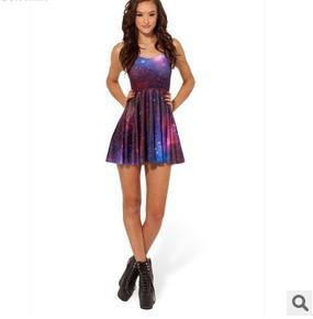 2015 New women s Sleeveless Printed Dress Slim Fashion Star Free Shipping