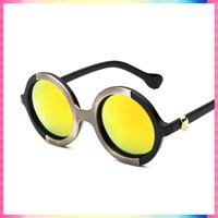 New 2015 Retro Round Coating Sunglasses Women Brand Designer Vintage Sun Glasses Women Cycling Eyeglasses Oculos De Sol Gafas