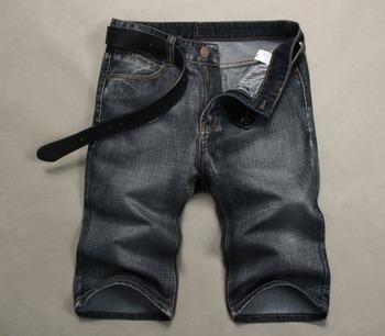 Новые джинсовые шорты для мужчин 2015 летние джинсы бренд класса люкс серый свободного покроя известный дизайн брюки джинсовые мужчин одежда бренд размер : 28-38 горячая