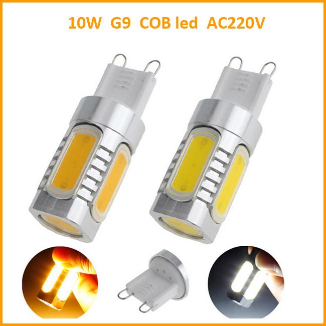 Hi-Worth G9 Led light bead 10W warm/white AC220V led lighting lamp 5 SMD COB led G9 bulbs energy saving(China (Mainland))