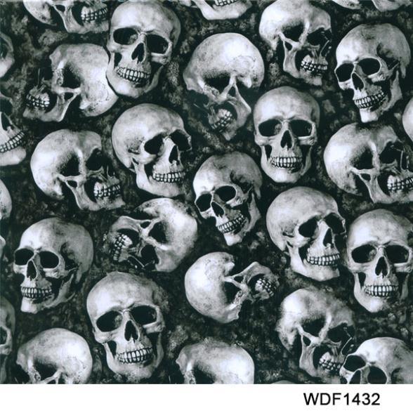 WDF1432-1 3square Width 0.5M skull pattern water transfer printing film(China (Mainland))