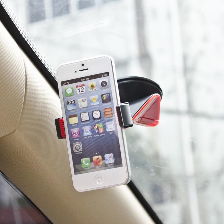 Hot Universal Car Phone Holder 360 Degree Rotating Bracket Phone Stand Sucker for iPhone 5/6 for Samsung Galaxy 5 I9600/GPS(China (Mainland))