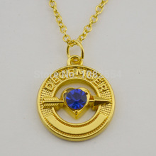 Wholesale 18k Gold Cupid Arrow With December Birthstone Living Memory Pendant Necklaces
