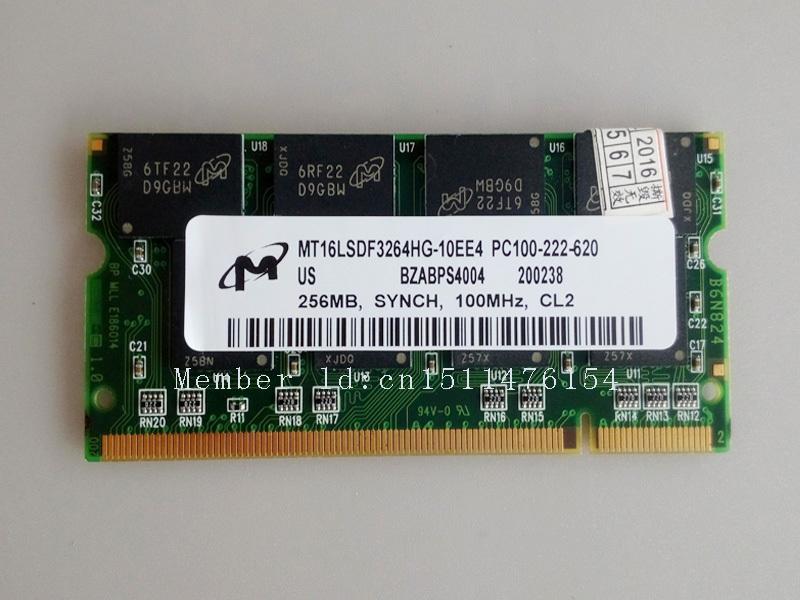 Micron 256MB PC100 100MHz 256mb pc100 100mhz SO-DIMM laptop Notebook memory RAM Non-ECC 144pin SDRAM Free Shipping(China (Mainland))