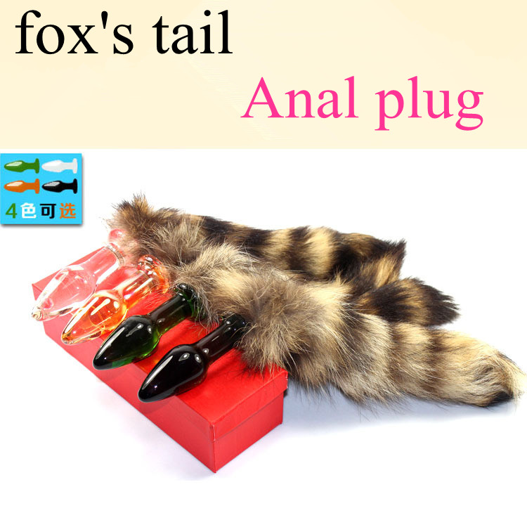 2015 New arrivals Love Fox Tail Butt Anal Plug Sexy Romance Sex Toy Funny Adult Product(China (Mainland))