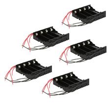 Hot sale DIY 5pcs Battery Storage Case Box Holder for 4 * 18650 Lithium Battery Holder DIY power supply(China (Mainland))