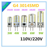 G4 110V LED Corn Lamp 3W 4W 5W 6W 9W LED Light 3014 Corn Bulb Silicone Lamps Crystal Chandelier Lights Home Decoration Light