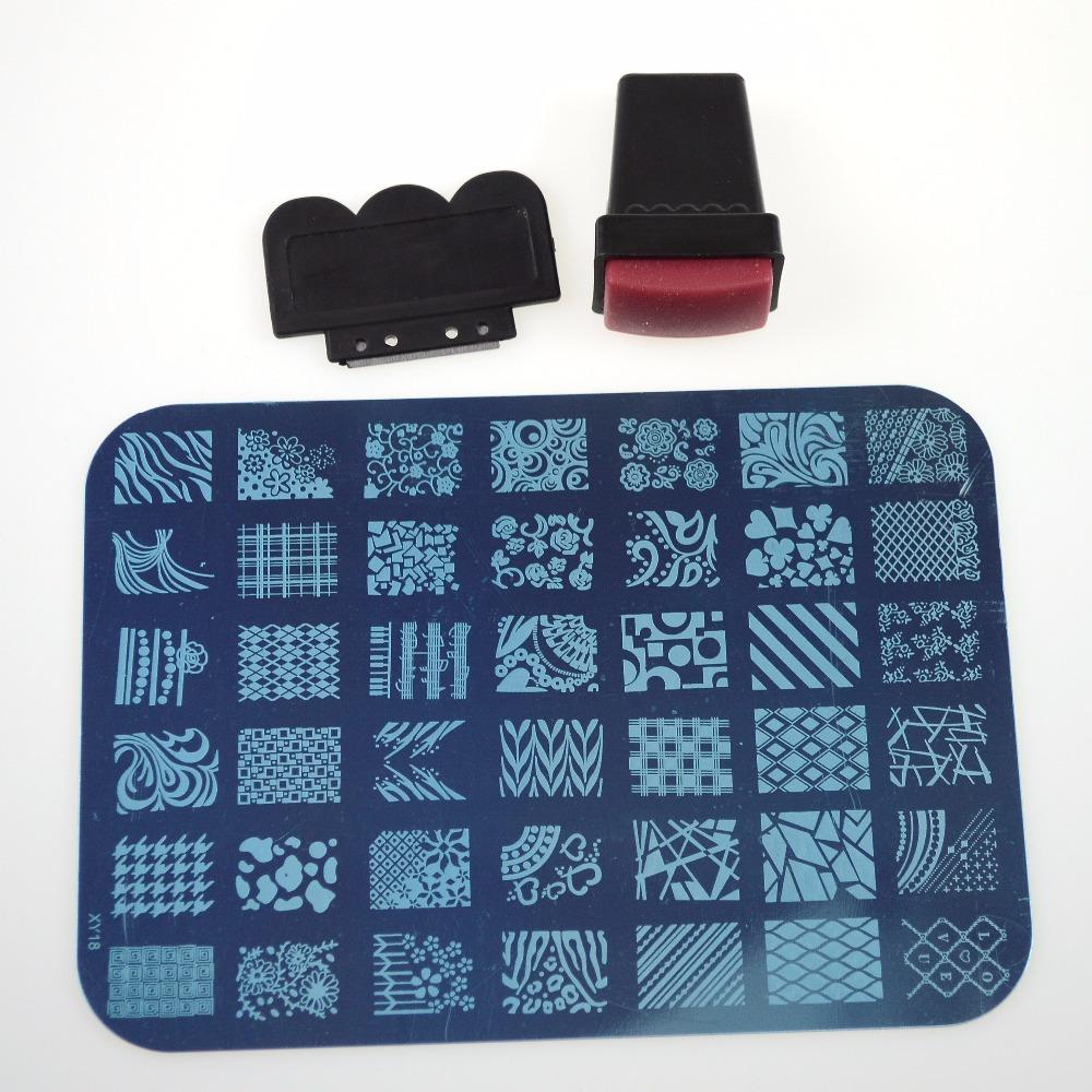 1sets 14.5x10.5cm Nail Art Stamping Sets Fashion 20deisgns Stamper Scraping Nail Polish Sexy Tips Finger Beauty Tools NC100(China (Mainland))