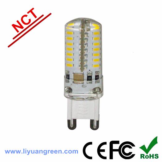 10pcs/lot G9 64PCS 3014 3.5W Silicon led soild light Crystal Light bulbs 220V/230V(China (Mainland))