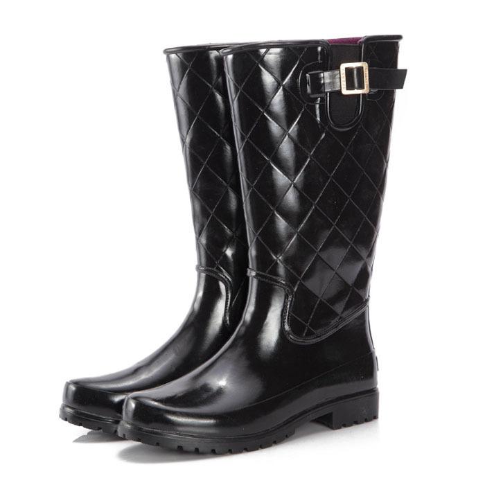 Free shipping Autumn / winter Men's Fashion Motorcycle boots Waterproof Rain Boot Shoe Non-slip wading shoes for men(China (Mainland))