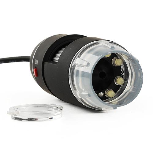 USB 8 LED 500X 2MP Digital Microscope Endoscope Magnifier Video Camera Black High Quality Brand New