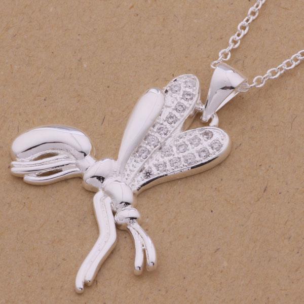 Free Shipping 925 Silver Necklaces & Pendants Fashion Silver Jewelry dragonfly /amqajdxa dyoampva AN069(China (Mainland))