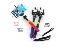 New Extendable Handheld Stick Monopod Selfie Stick with 3 5mm Audio Cable Control For IOS Android